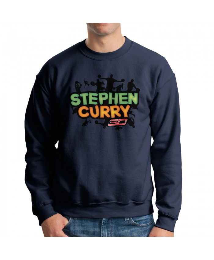 Ayesha Curry Now Men's crew neck hoodie Stephen Curry Navy