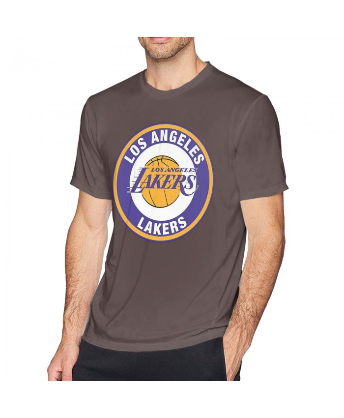Brian Cook Lakers Men's short sleeve t-shirt Los Angeles Lakers LAL Coffee