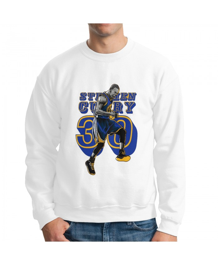 Curry Lakers Men's crew neck hoodie Stephen Curry On Behance White