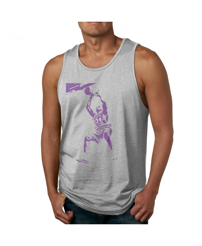 Kevin Duckworth Men's Tank Top Shirt Shaquille O'Neal Gray