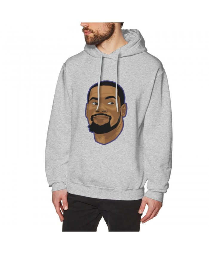 Kevin Durant And Anthony Davis Men's Hoodie Sweatshirt Kevin Durant Gray