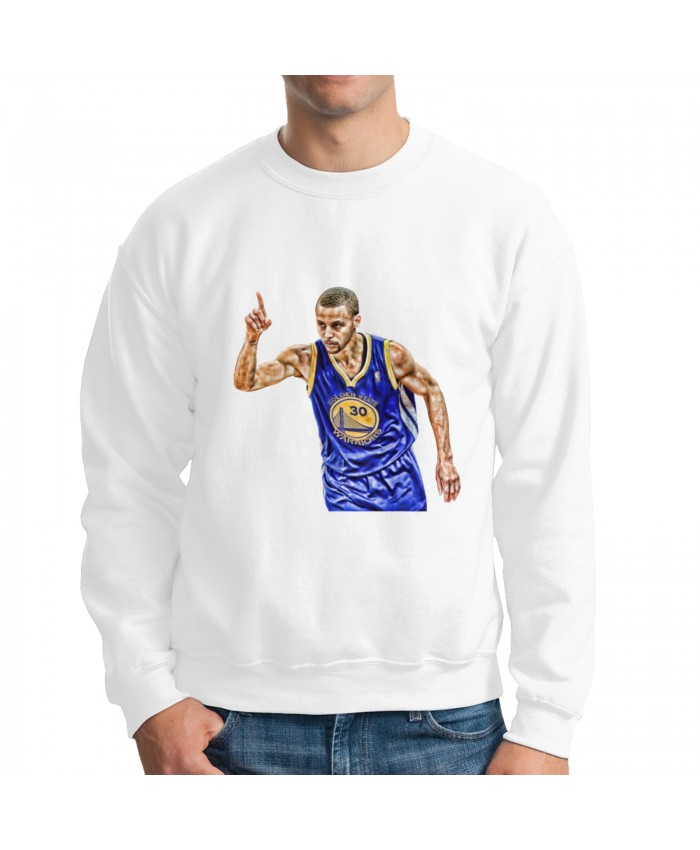 Loyola Md Basketball Men's crew neck hoodie Steph Curry White