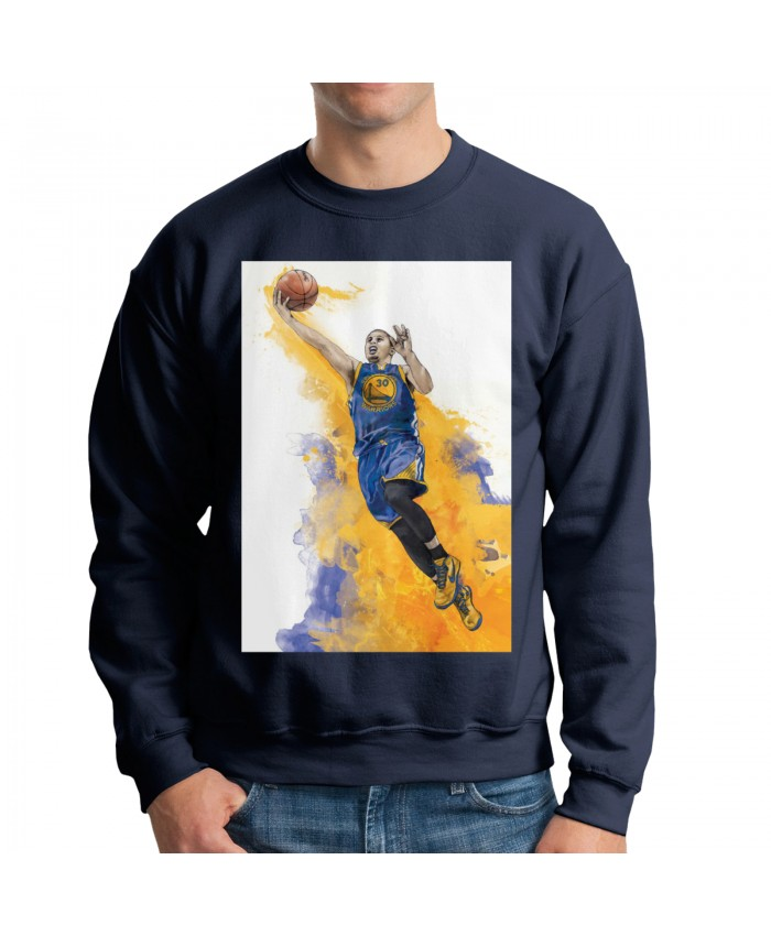 Patrick Mahomes And Steph Curry Men's crew neck hoodie Steph Curry Navy