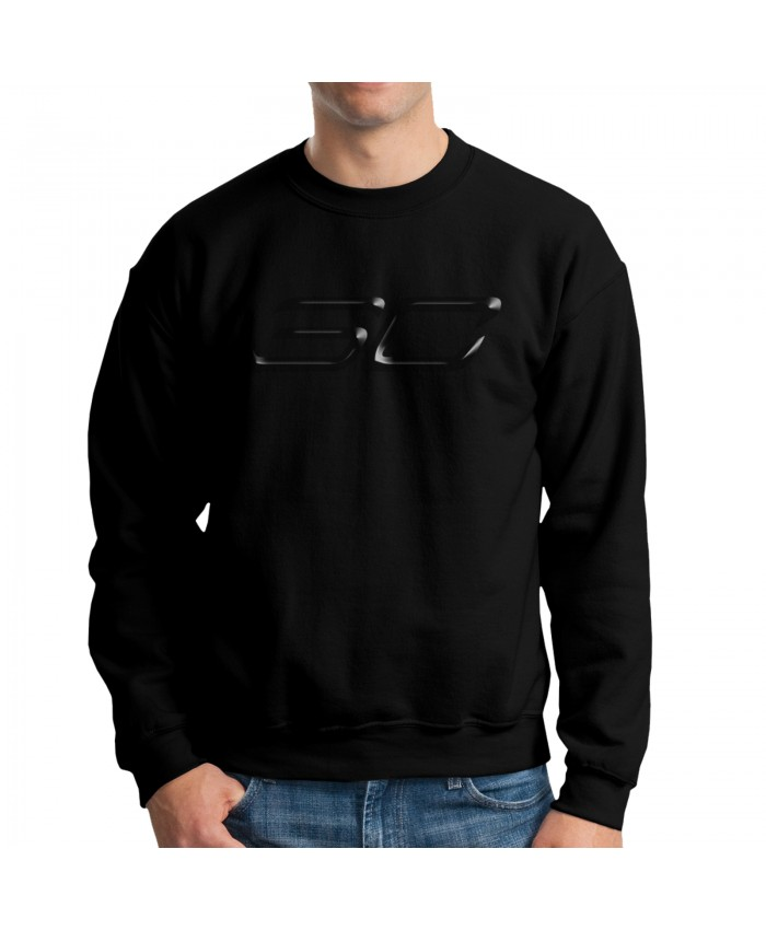 Steph Curry As A Kid Men's crew neck hoodie Stephen Curry Logo 3D Black