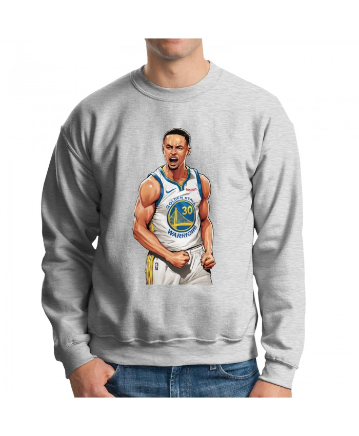 Steph Curry Galaxy Opal Men's crew neck hoodie Stephen Curry Gray